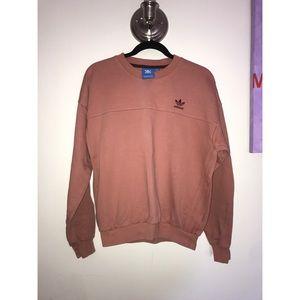 Blush Pink Adidas Trefoil Crewneck Size S (mens)